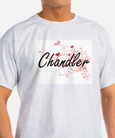 Chandler Artistic Design with Hearts T-Shirt