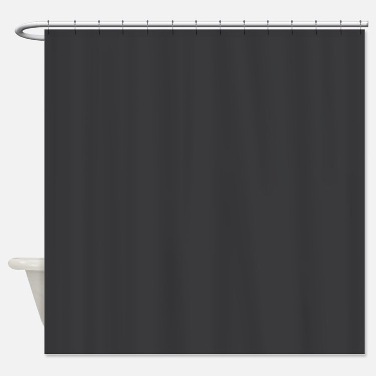 Charcoal Gray Shower Curtains