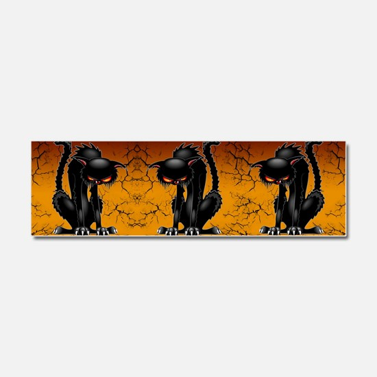 Black Cat Evil Angry Funny Character Car Magnet 10