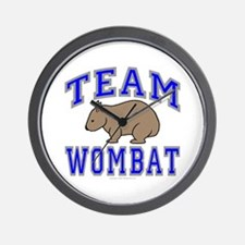 Team Wombat II Wall Clock