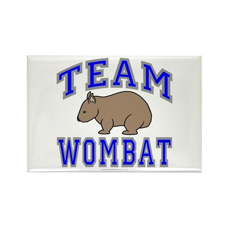 Team Wombat II Rectangle Magnet (10 pack)