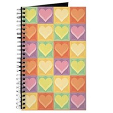 Pretty Colorful Hearts Journal
