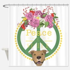 Peaceful Pitbull Shower Curtain