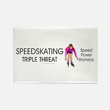 TOP Speedskating Slogan Rectangle Magnet