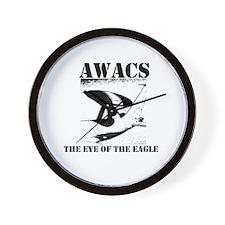 AWACS 1 black Wall Clock