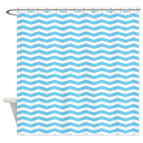 Baby Blue Chevron Shower Curtain By 1512blvd