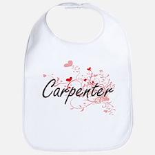 Carpenter Artistic Design with Hearts Bib