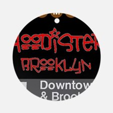 Hoodister Brooklyn Janis red blac Ornament (Round)