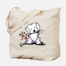 KiniArt Maltese Garden Helper Tote Bag
