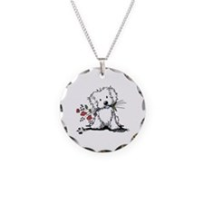 KiniArt Maltese Garden Helpe Necklace