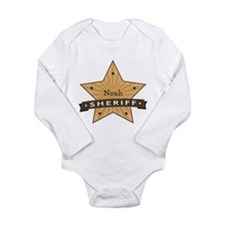 Personalizable Sheriff Star Long Sleeve Infant Bod