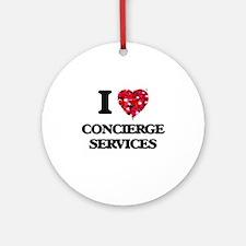 I love Concierge Services Ornament (Round)