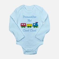 Choo Choo Train Long Sleeve Infant Bodysuit