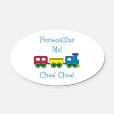 Choo Choo Train Oval Car Magnet