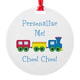 Train Round Ornament