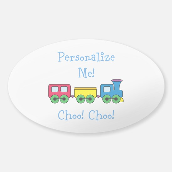 Choo Choo Train Sticker (Oval)
