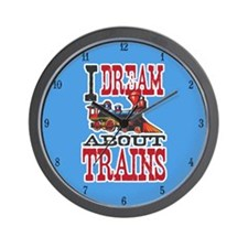 Dream About Trains Wall Clock