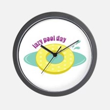 Lazy Pool Day Wall Clock