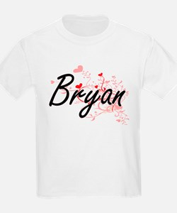 Bryan Artistic Design with Hearts T-Shirt