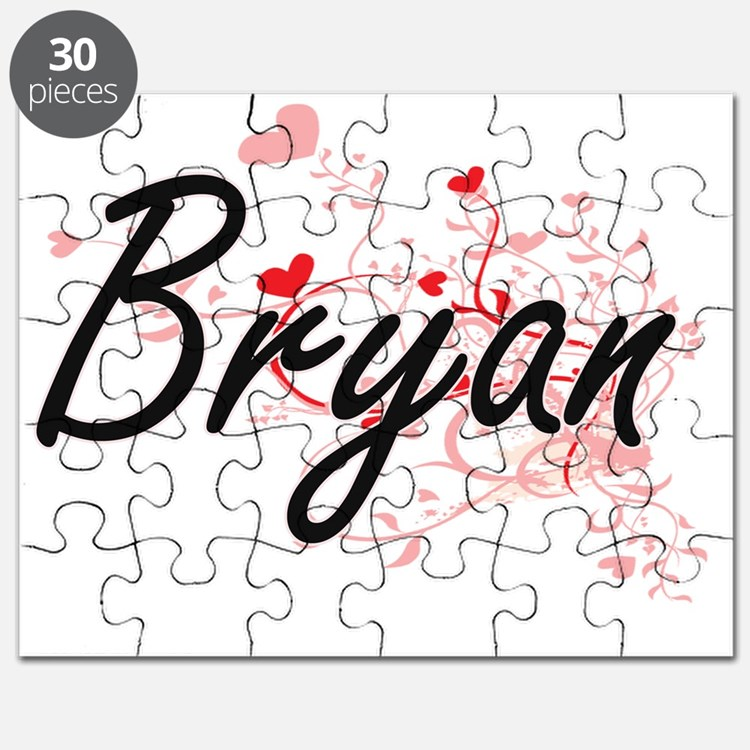Bryan Artistic Design with Hearts Puzzle