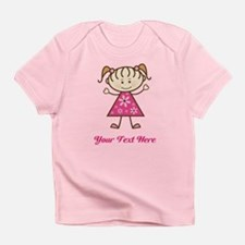 Pink Stick Figure Girl Infant T-Shirt