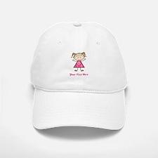 Pink Stick Figure Girl Baseball Baseball Cap
