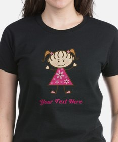 Pink Stick Figure Girl Tee