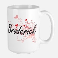 Broderick Artistic Design with Hearts Mugs
