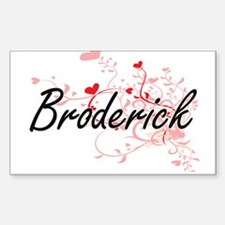 Broderick Artistic Design with Hearts Decal
