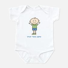 Stick Figure Boy Infant Bodysuit