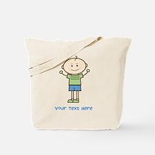 Stick Figure Boy Tote Bag