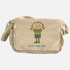 Stick Figure Boy Messenger Bag