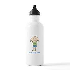 Stick Figure Boy Water Bottle