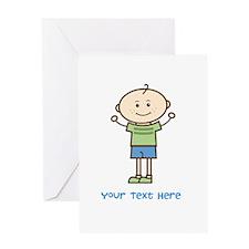 Stick Figure Boy Greeting Card