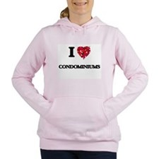 I love Condominiums Women's Hooded Sweatshirt