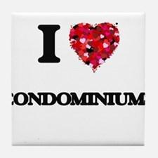 I love Condominiums Tile Coaster