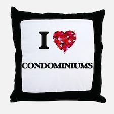 I love Condominiums Throw Pillow