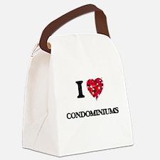 I love Condominiums Canvas Lunch Bag