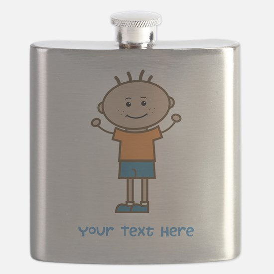 Stick Figure Boy Flask