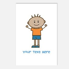 Stick Figure Boy Postcards (Package of 8)