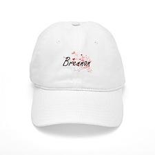 Brennan Artistic Design with Hearts Baseball Cap