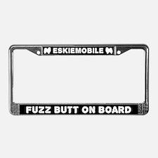 Eskiemobile Fuzz Butt On Board License Plate Frame