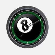 Pool 8 Ball Wall Clock