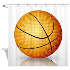 Basketball Reflection Shower Curtain