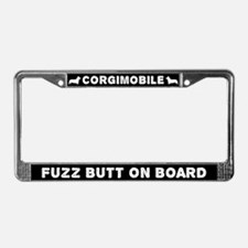 Corgimobile Fuzz Butt On Board License Plate Frame