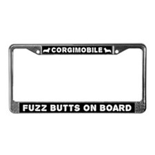 Corgi Corgimobile Fuzz Butts License Plate Frame