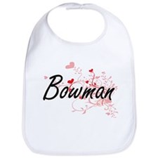 Bowman Artistic Design with Hearts Bib