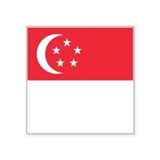 "Singapore Flag Square Sticker 3"" x 3"""