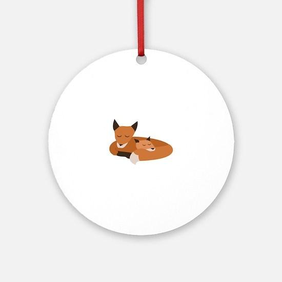 Fox Family Ornament (Round)