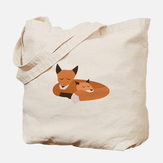 Fox Family Tote Bag